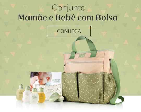 Conjunto Mamãe e Bebê com Bolsa