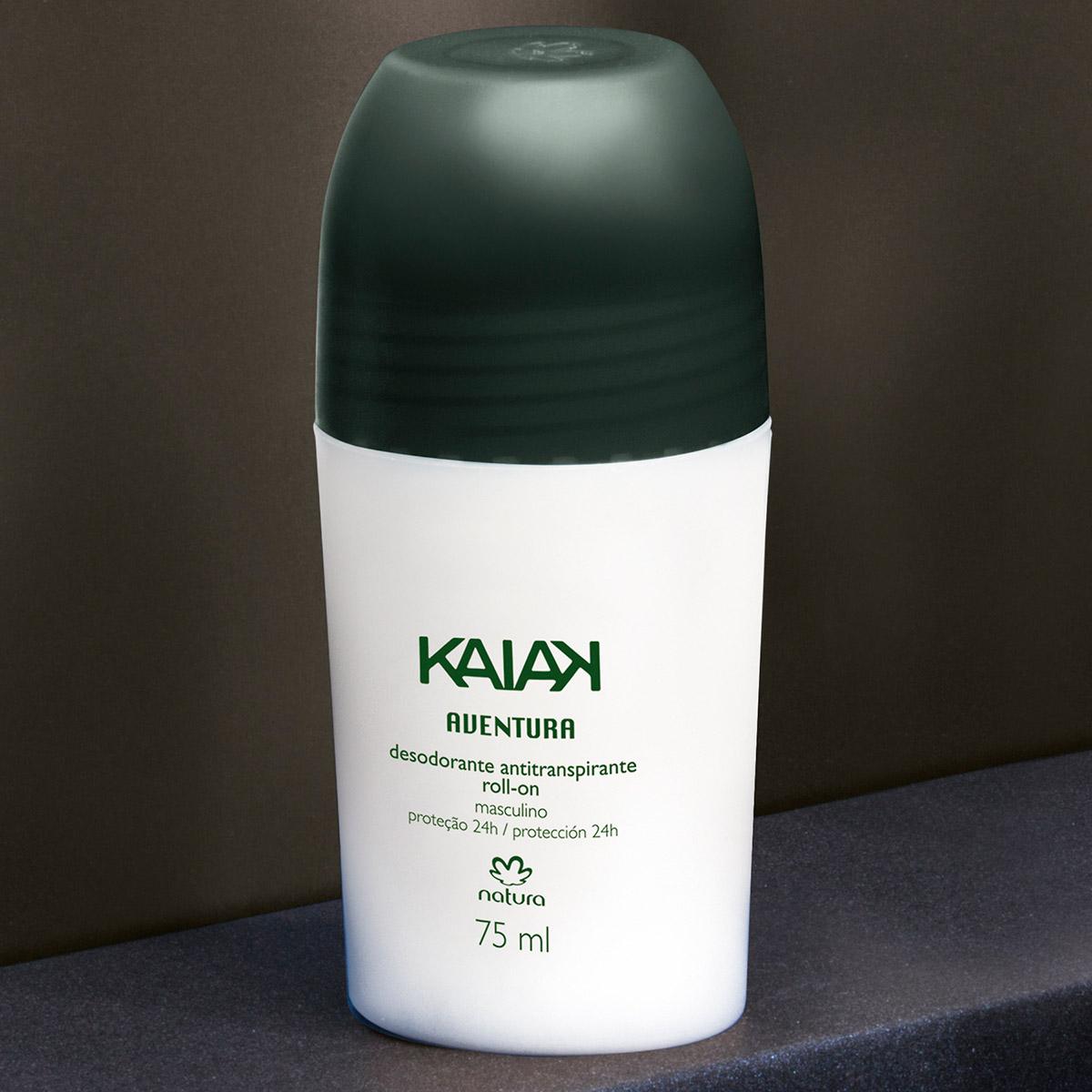 Desodorante Antitranspirante Roll-on Kaiak Aventura Masculino  - 75ml - 35673