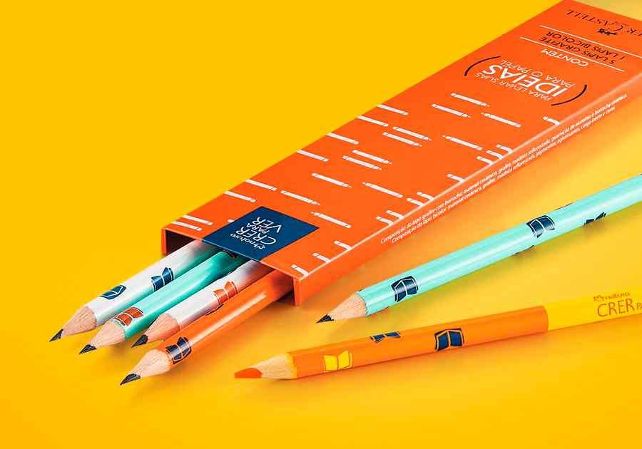 Kit Lápis Grafite e Marca-texto Crer Para Ver - Caixa com 6un - 51509