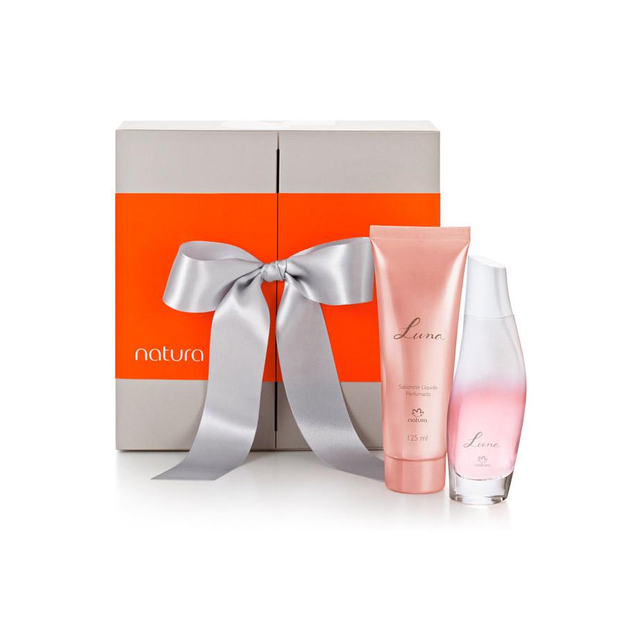 Presente Natura Luna - Desodorante Colônia + Sabonete Líquido + Embalagem - 58965