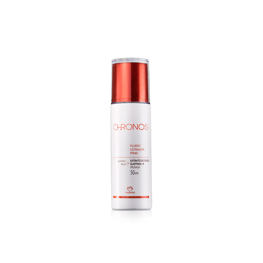 Fluido Protetor Facial Ultraleve FPS60 Chronos - 50 ml - 59052