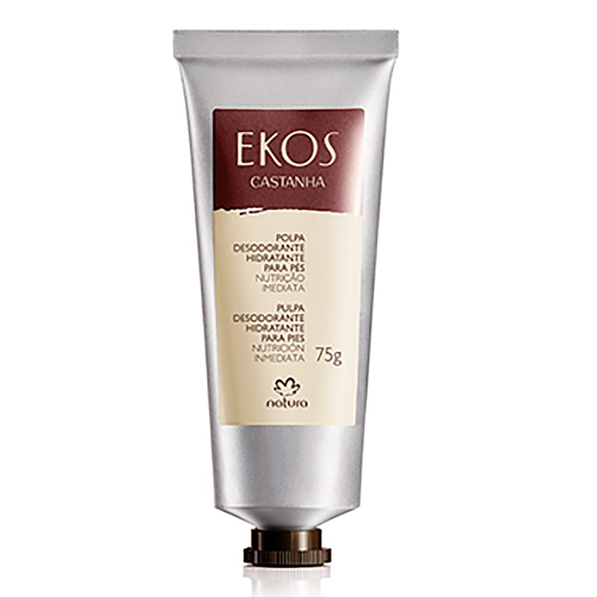 Polpa Desodorante Hidratante para Pés Castanha Ekos - 75g - 62526