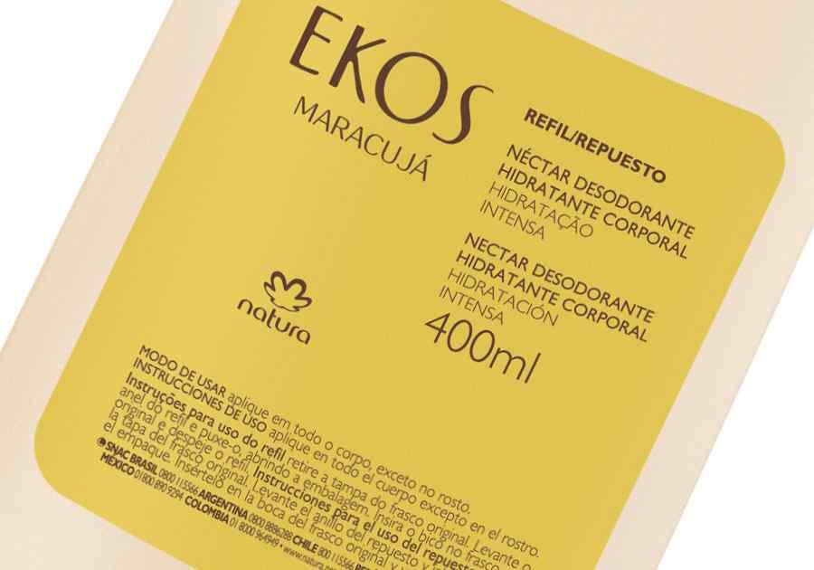 Refil Néctar Desodorante Hidratante Corporal Maracujá Ekos - 400ml - 62528