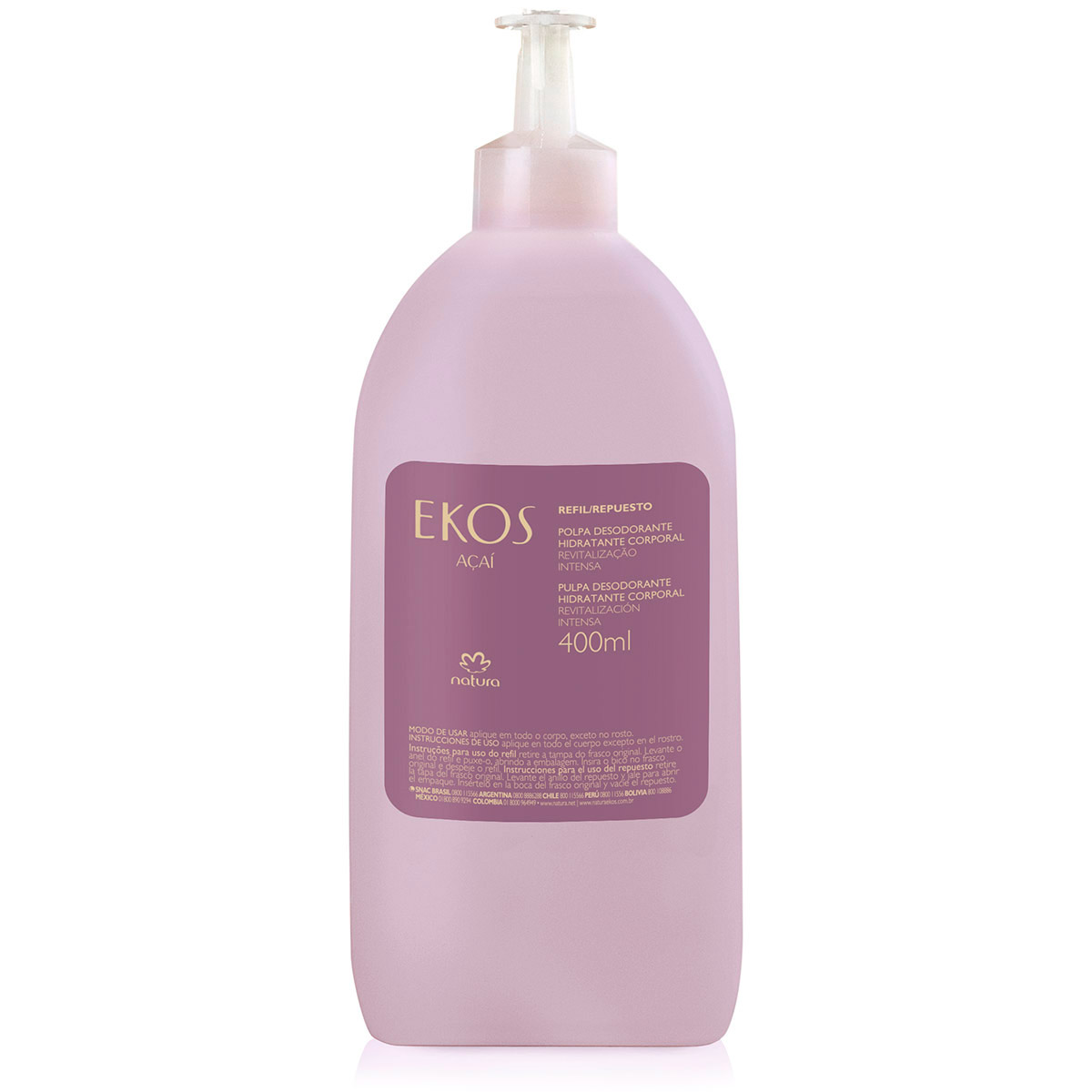 Refil Polpa Desodorante Hidratante para o Corpo Ekos Açaí - 400ml - 62532