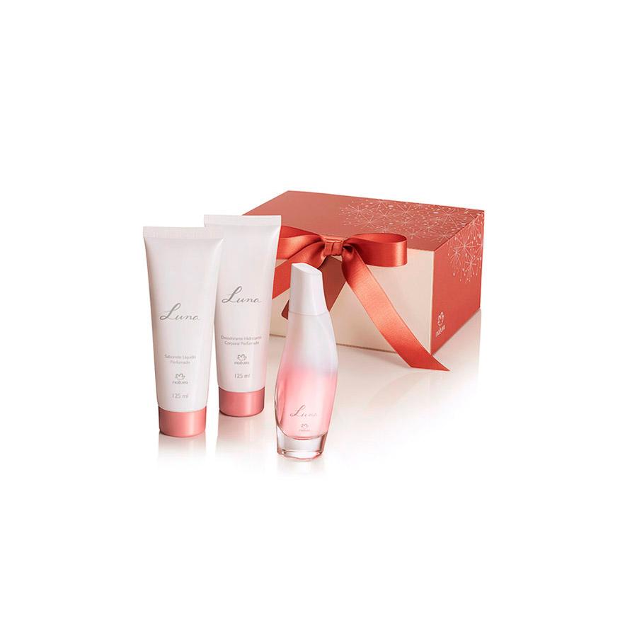 Presente Natura Luna - Desodorante Colônia + Desodorante Hidratante Corporal + Sabonete Líquido + Embalagem - 62861