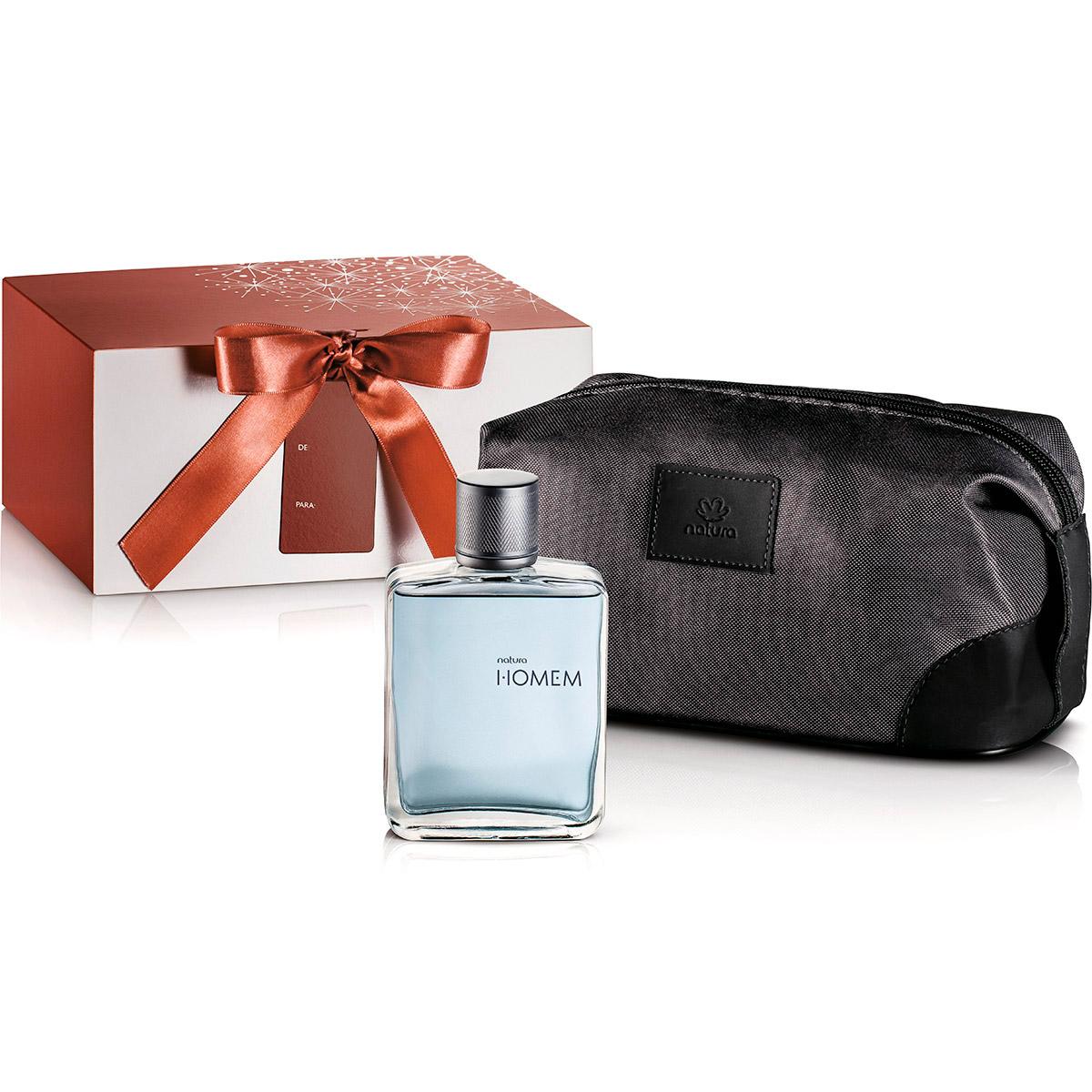 Presente Natura Homem - Desodorante Colônia + Nécessaire + Embalagem - 62865