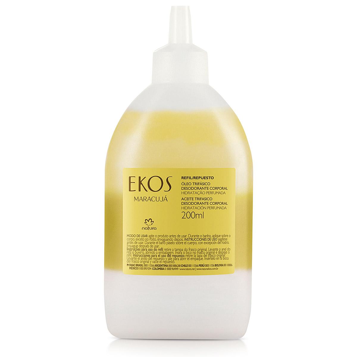 Refil Óleo Trifásico Desodorante Corporal Maracujá Ekos - 200ml - 62926