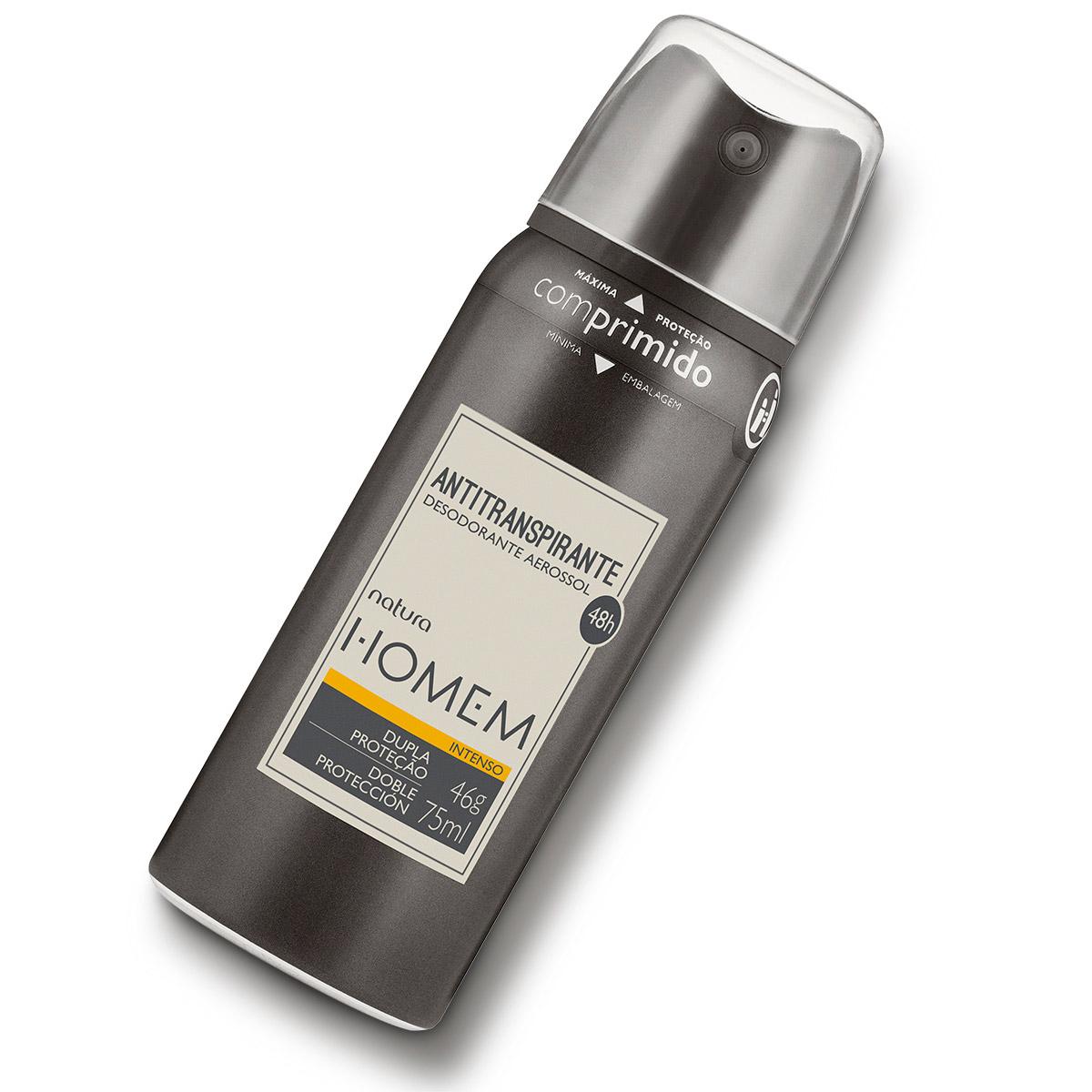 Desodorante Antitranspirante Aerossol Natura Homem Intenso - 75ml - 63513