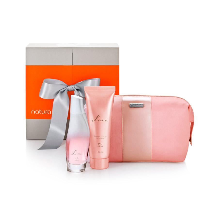 Presente Natura Luna - Desodorante Colônia + Sabonete Líquido + Nécessaire + Embalagem - 63829