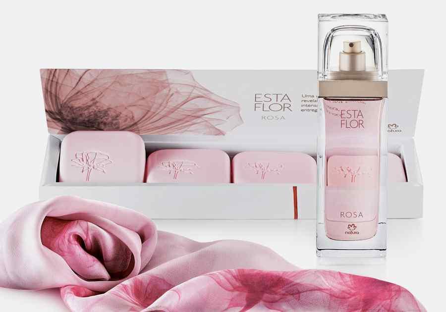 Presente Natura Esta Flor Rosa - Deo Parfum + Sabonete em Barra + Lenço + Embalagem - 63830