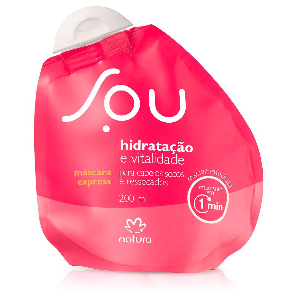 Máscara Express Hidratação e Vitalidade SOU - 200ml - 63969