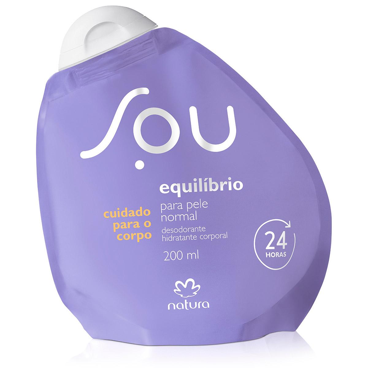 Desodorante Hidratante Corporal Equilíbrio para Pele Normal SOU - 200ml - 64012