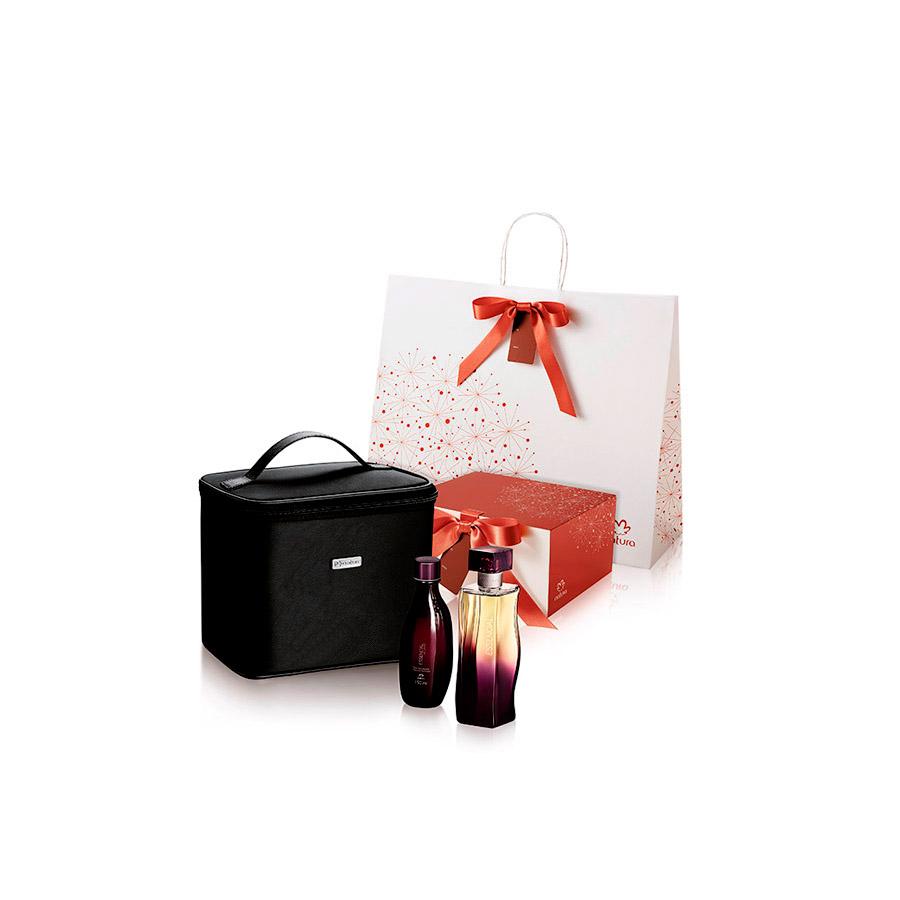 Presente Natura Essencial Exclusivo com Frasqueira - Deo Parfum + Óleo Desodorante + Frasqueira + Embalagem - 65590