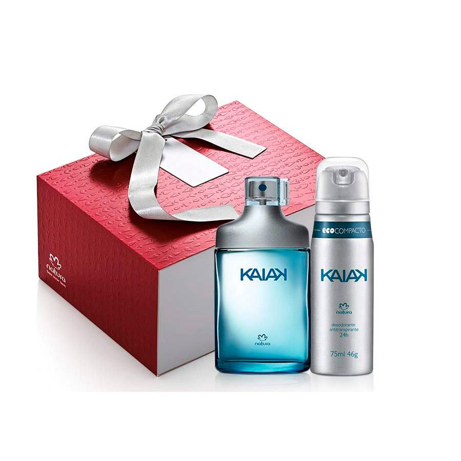 Presente Exclusivo Online Natura Kaiak Masculino - Desodorante Colônia + Desodorante Aerossol + Embalagem - 67118