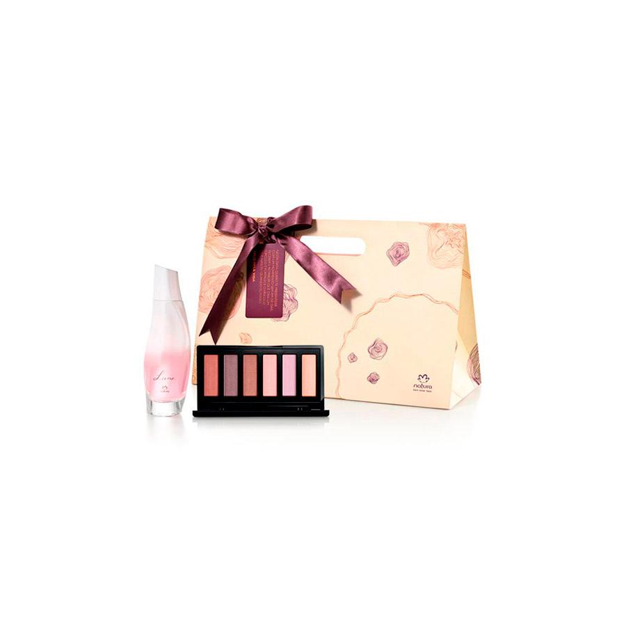 Presente Natura - Palette de Sombras Una + Desodorante Colônia Luna + Embalagem - 67511