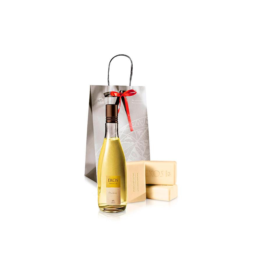 Presente Natura Ekos Maracujá - Desodorante Colônia + Sabonete em Barra + Embalagem - 67515