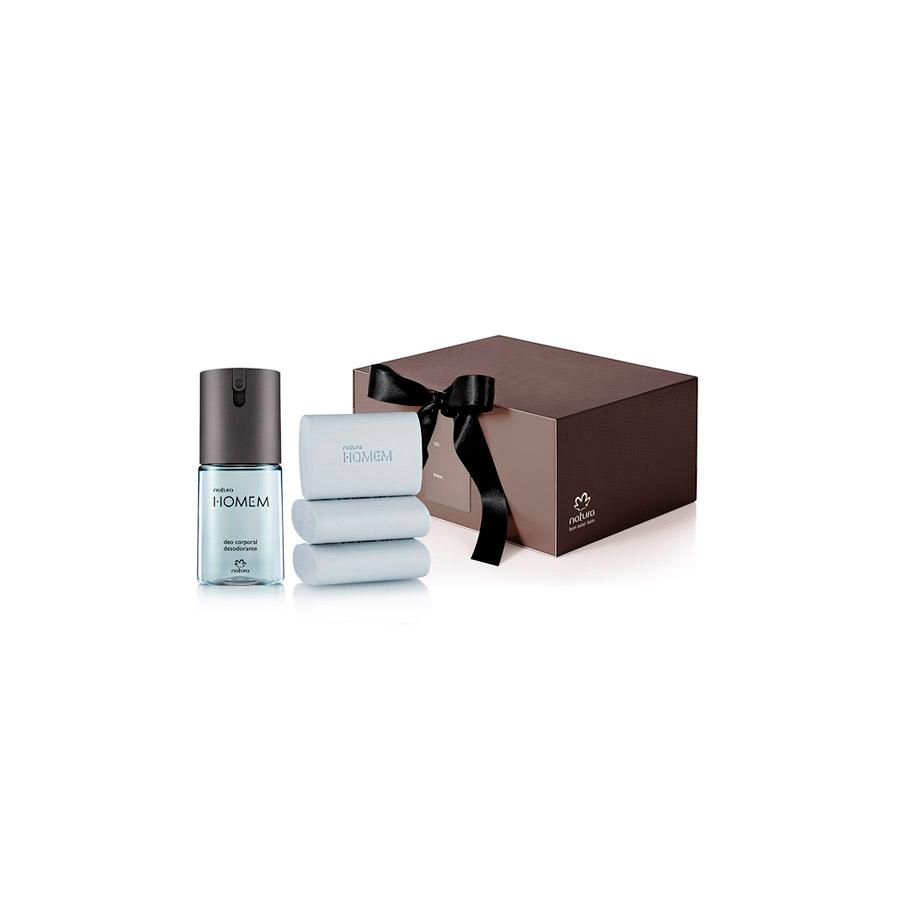 Presente Exclusivo Natura Homem -  Deo Corporal + Sabonete em Barra + Embalagem - 67825
