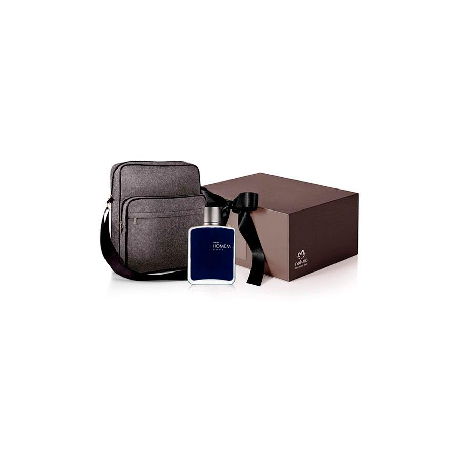 Presente Exclusivo Natura Homem Essence - Deo Parfum + Bolsa-carteiro + Embalagem - 67838
