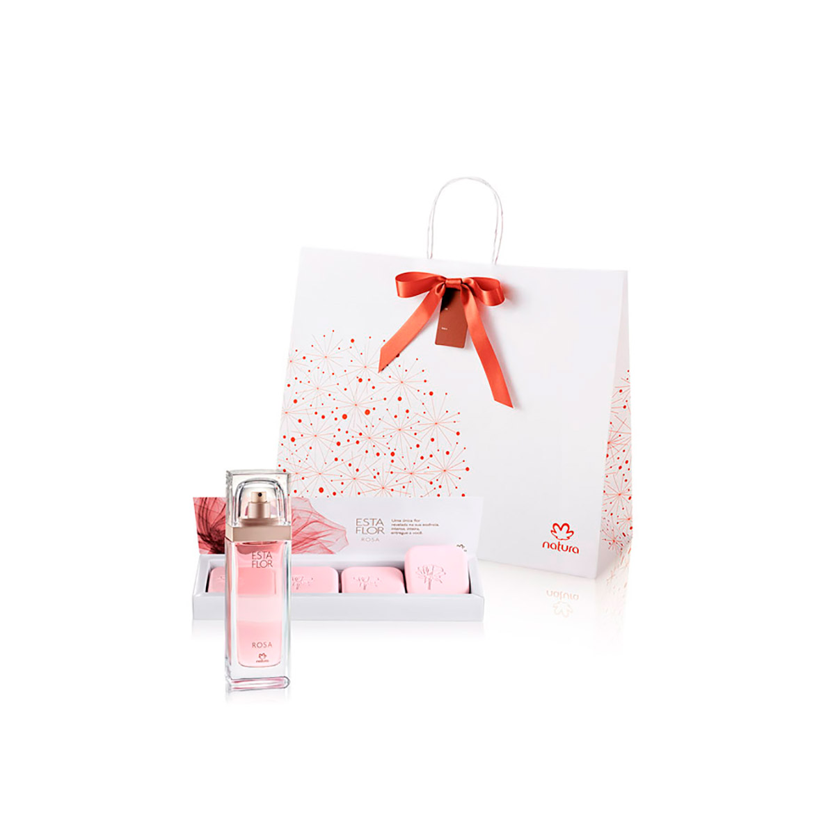 Presente Natura Esta Flor Rosa - Deo Parfum + Sabonetes em Barra + Embalagem - 67860