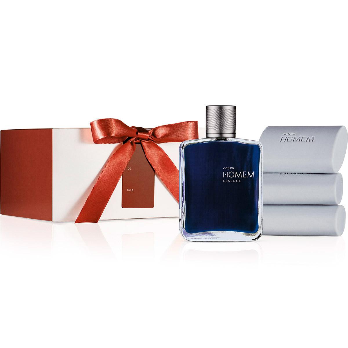 Presente Natura Homem Essence - Deo Parfum Masculino + Sabonetes em Barra + Embalagem - 67888