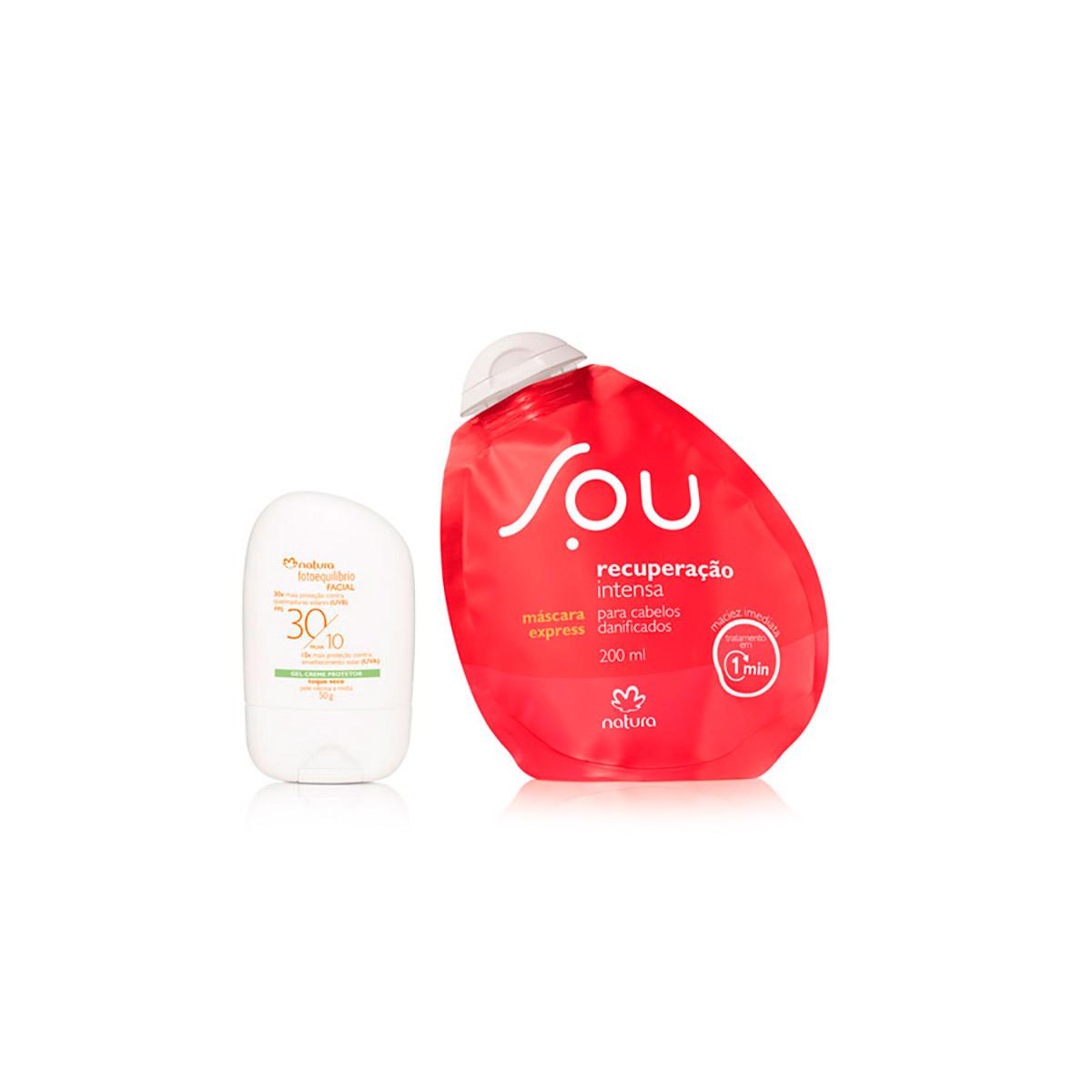 Combo Natura SOU e Fotoequilíbrio - Máscara Express + Gel Creme Protetor - 78375