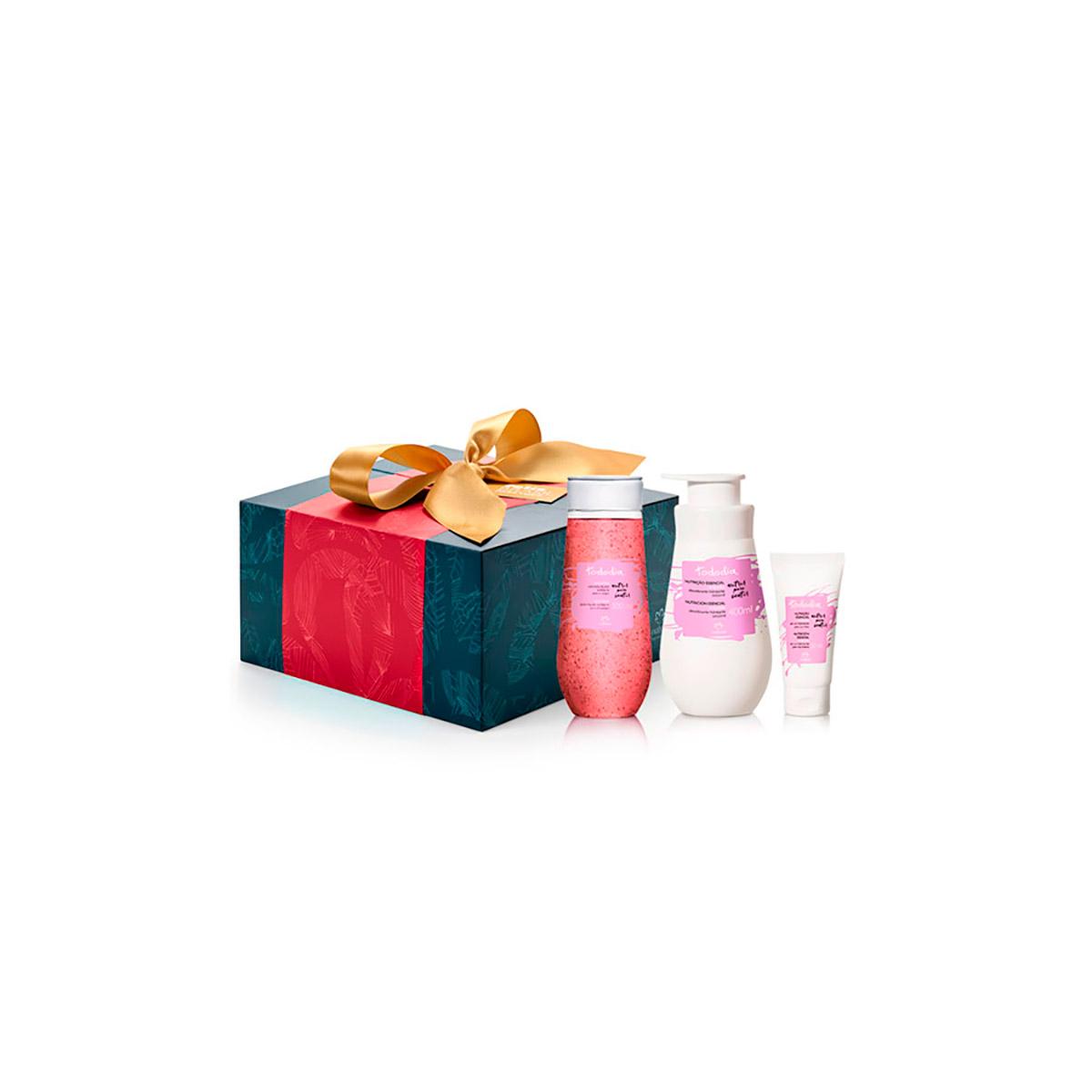 Presente Exclusivo Online Natura Tododia Orquídea - Desodorante Hidratante Corporal + Sabonete Líquido Esfoliante + Sérum Hidratante para as Mãos + Embalagem - 79220