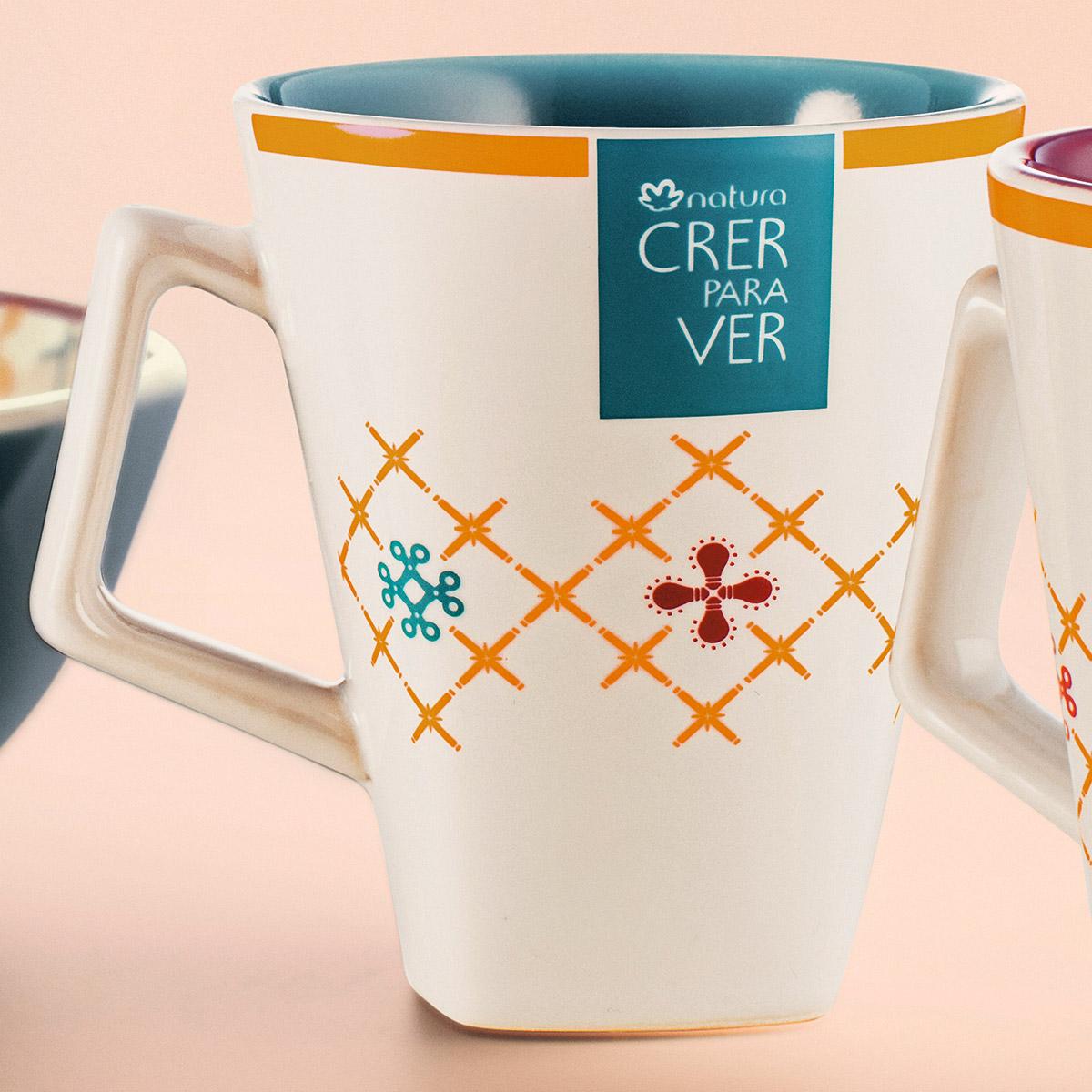 Caneca de Cerâmica Azul Crer Para Ver - 270ml - 79445